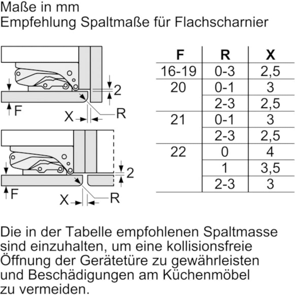 BOSCH Einbaukühlschrank »KIR24NFF0«, 2