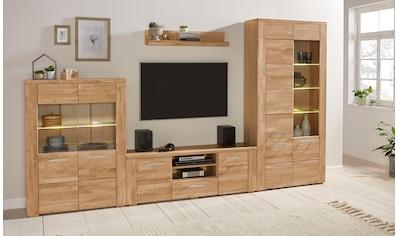 Woltra Wohnwand »Celle«, (Set, 5 St.), teilmassives Holz kaufen