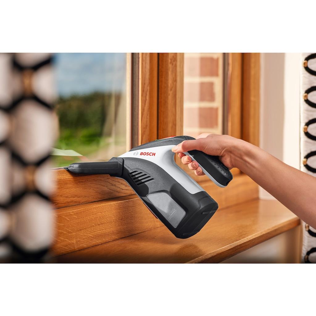 BOSCH Akku-Fenstersauger »GlassVac Solo Plus«, inkl. Sprühapplikator, Mikrofaserstoff, USB-Kabel