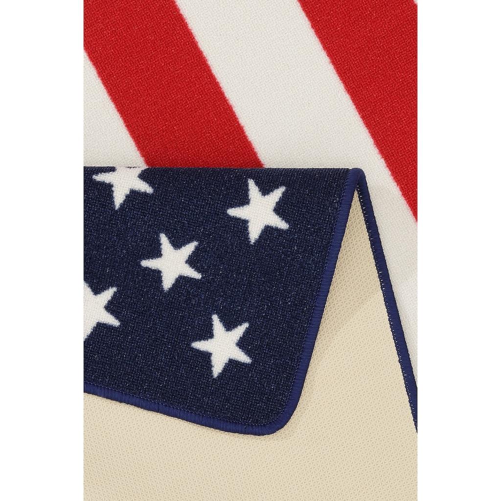 HANSE Home Teppich »USA Flagge«, rechteckig, 9 mm Höhe, Wohnzimmer