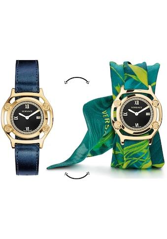 Versace Schweizer Uhr »Medusa Frame, VEVF00820«, (Set, 2 tlg., Uhr mit Lederband und... kaufen