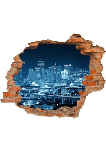 Conni Oberkircher´s Wandsticker »Blue City«, selbstklebend kaufen