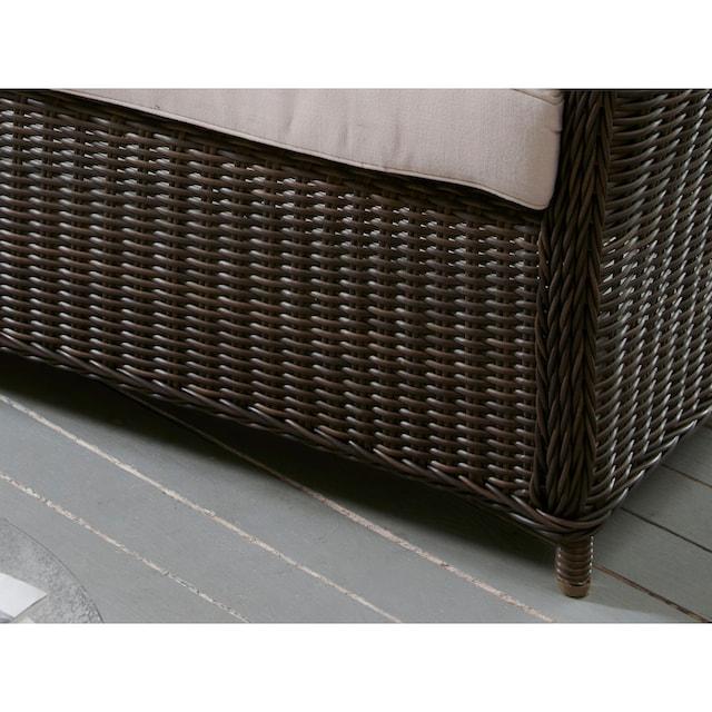 DESTINY Loungesofa »Palma«, 2er-Sitzer, Polyrattan, inkl. Auflagen