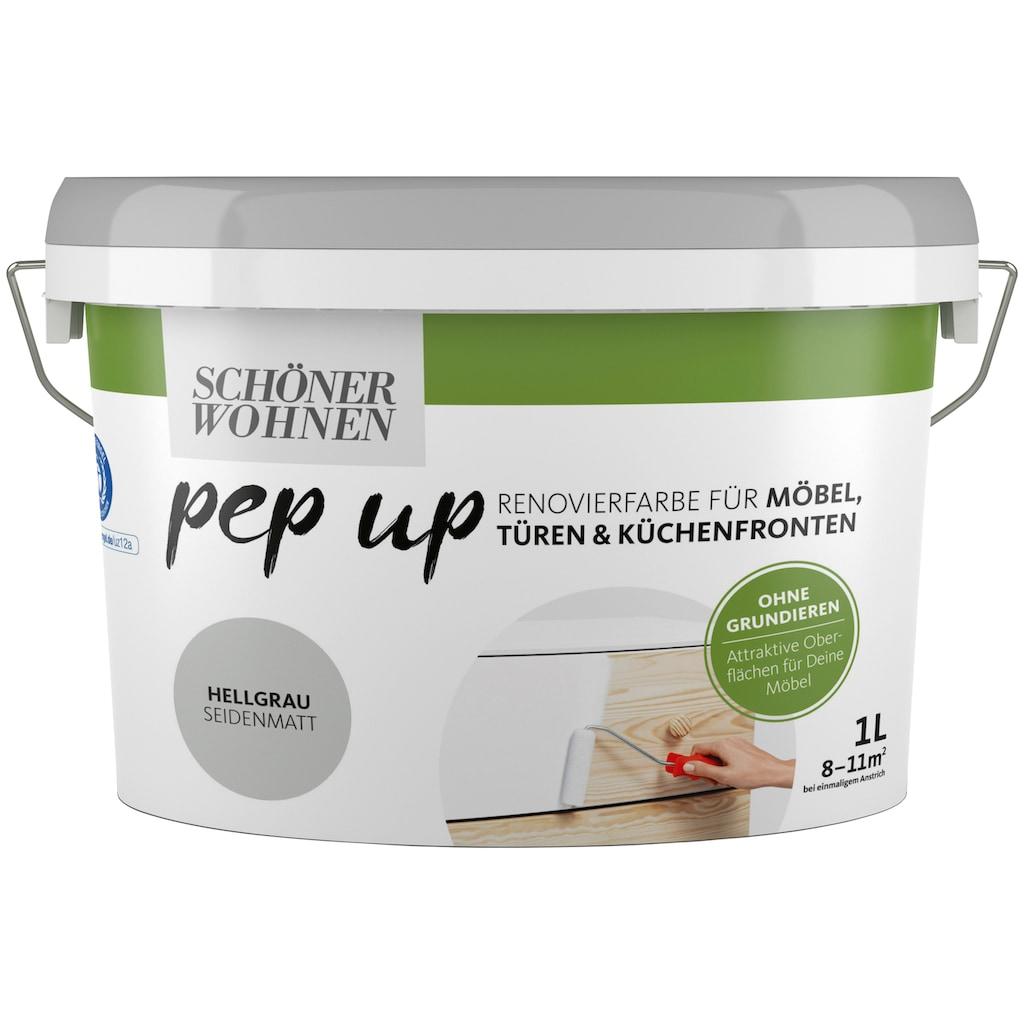 SCHÖNER WOHNEN-Kollektion Lack »pep up - hellgrau«, seidenmatt, für Möbel, Türen und Küchenfronten, 1 l