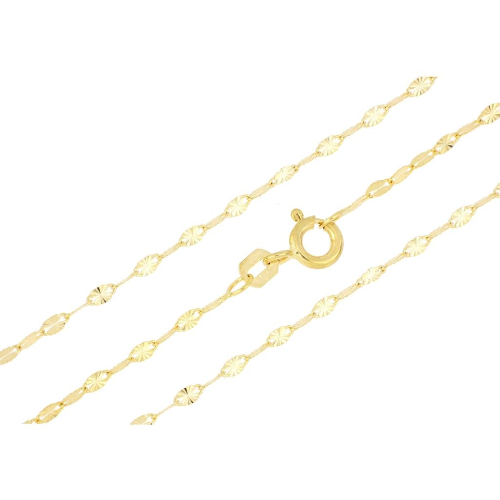 Firetti Goldkette »Plättchenkettengliederung, 2,0 mm, sterndiamantiert«