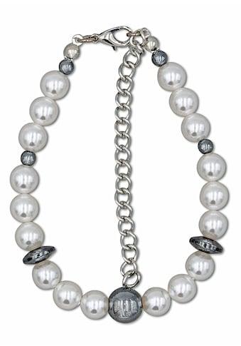 J.Jayz Armband »Perlenarmband in zweifarbiger Optik mit Kugeln und Scheiben«, mit... kaufen