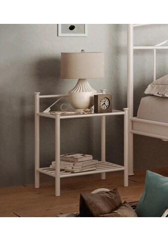 Home affaire Nachttisch »Birgit«, aus einem schönen Metallgestell, in zwei... kaufen