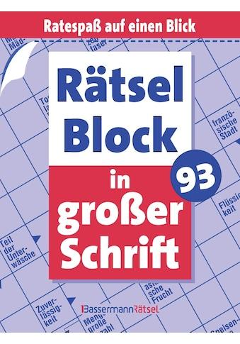 Buch »Rätselblock in großer Schrift 93 (5 Exemplare à 2,99 EUR) / Eberhard Krüger« kaufen