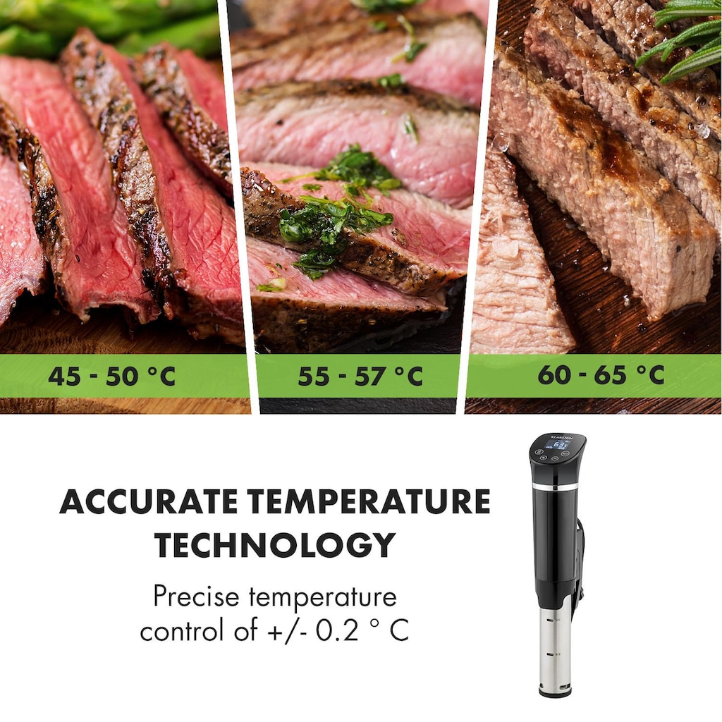 Klarstein Quickstick Flex 1300W 3D Circulating 0-95 °C IPX7 Time