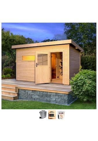 Karibu Saunahaus »Uwe 3«, 9-kW-Bio-Ofen mit ext. Steuerung kaufen