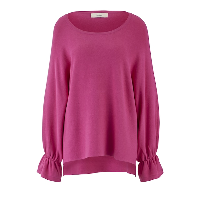 Pullover mit gerafftem Bündchen