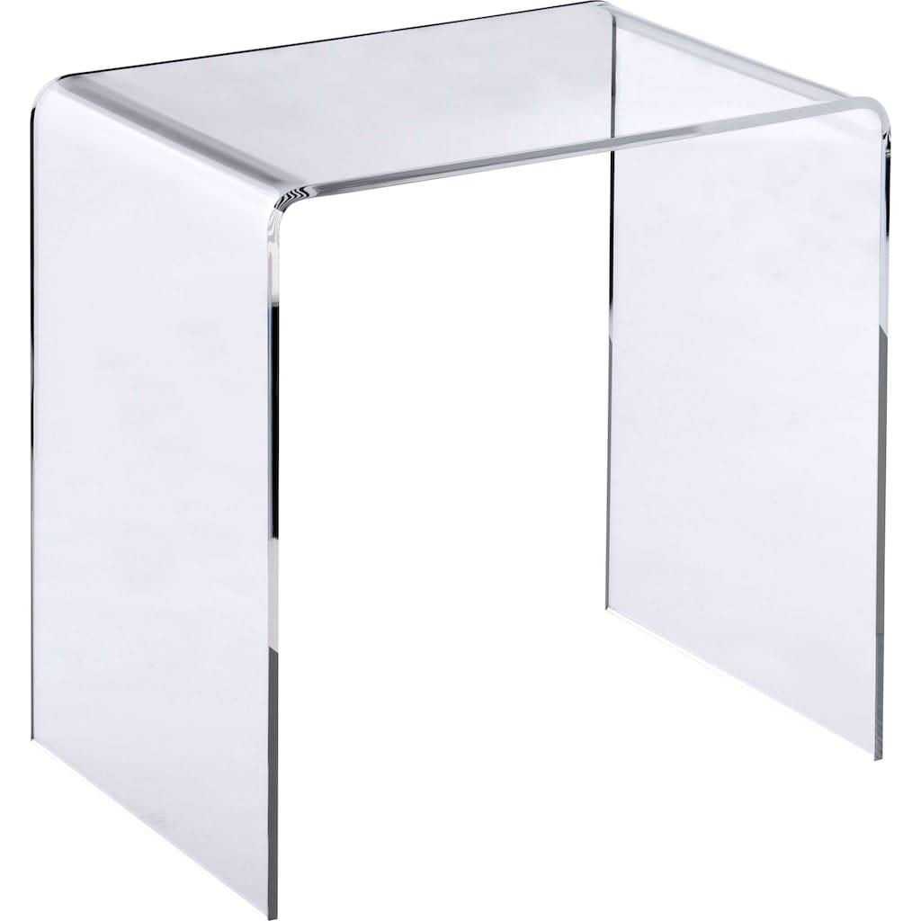 Places of Style Beistelltisch »Glarus«, Glastisch in hochwertiger Verarbeitung, made in Germany