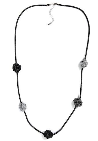J.Jayz Lange Kette »schwarz und silberfarben im trendigen Wechsel« kaufen
