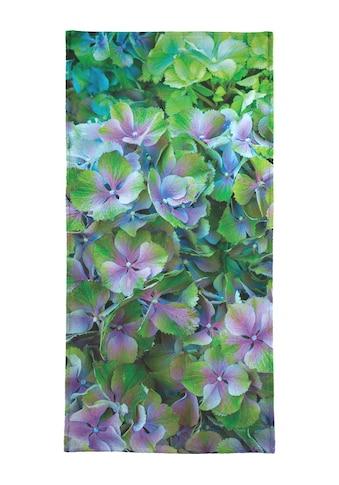 Juniqe Strandtuch »Hortensia«, (1 St.), Weiche Frottee-Veloursqualität kaufen