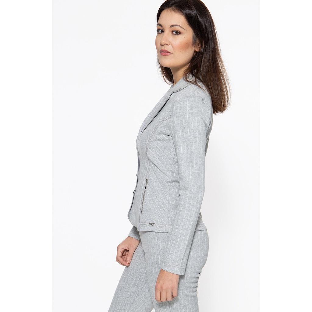 ATT Jeans Sweatblazer »Surya«, mit Reißverschlusstaschen
