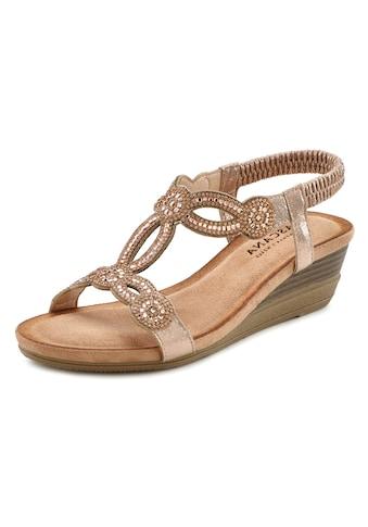 LASCANA Sandale, mit Schmucksteinen und elastischen Riemen kaufen