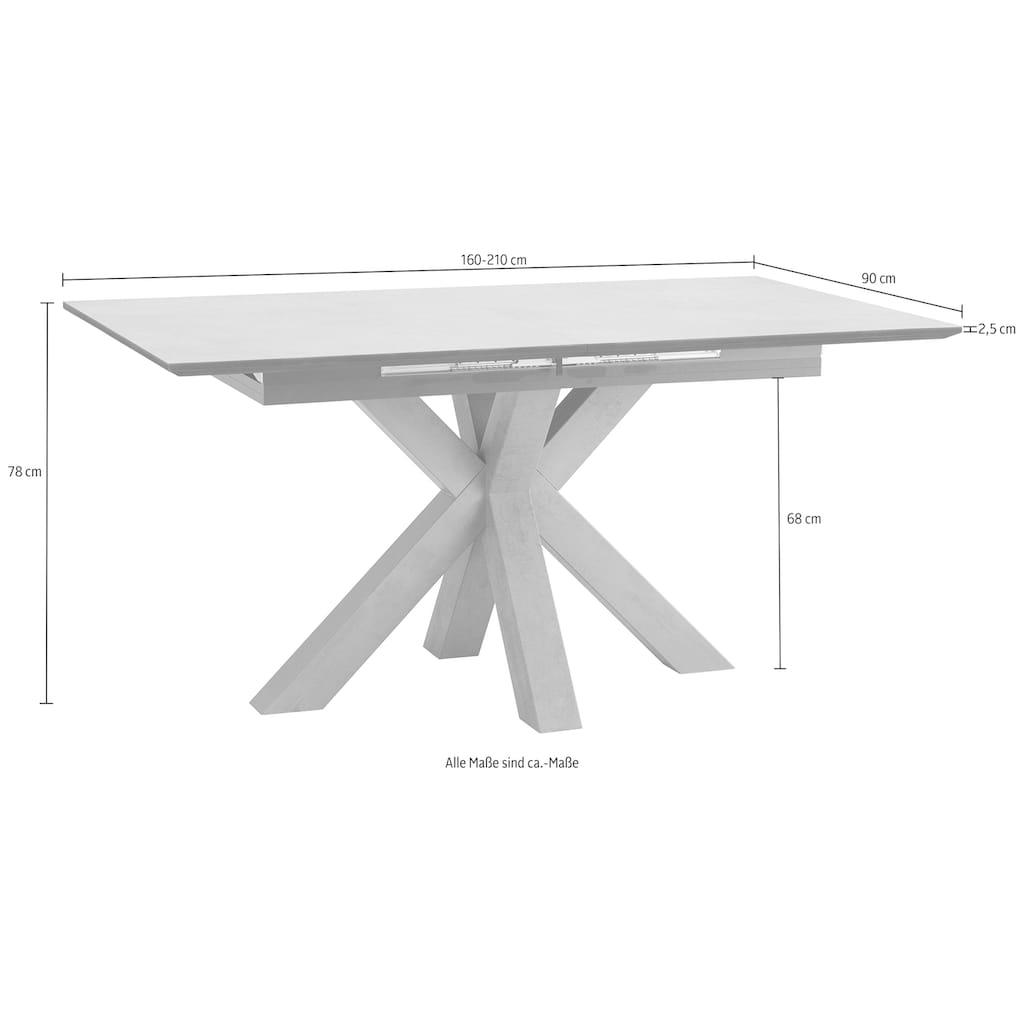 Esstisch, Breite 160 cm mit Auszugsfunktion