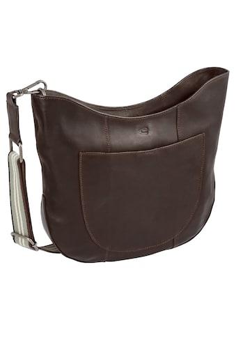 camel active Umhängetasche »Merida«, aus Leder mit buntem Umhängeriemen kaufen