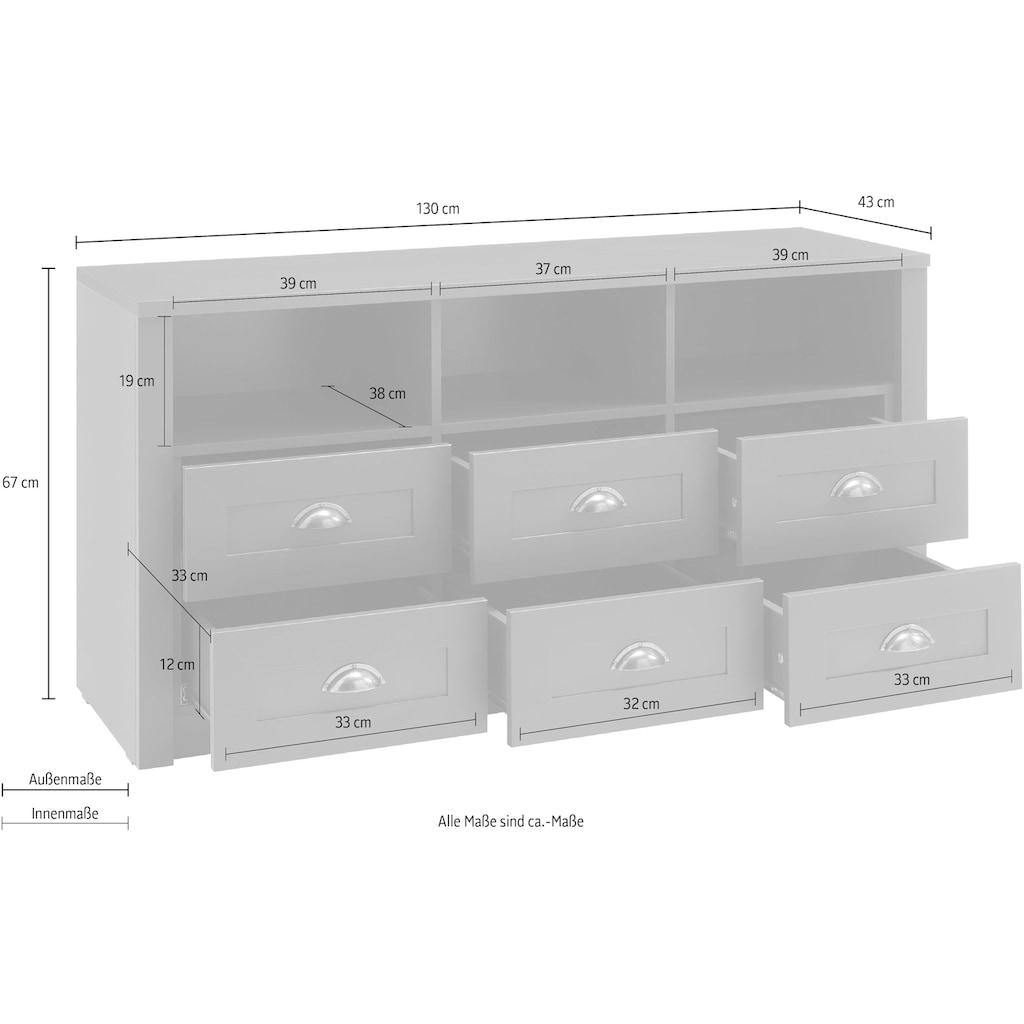 Home affaire Lowboard »Ascot«, Breite 130 cm
