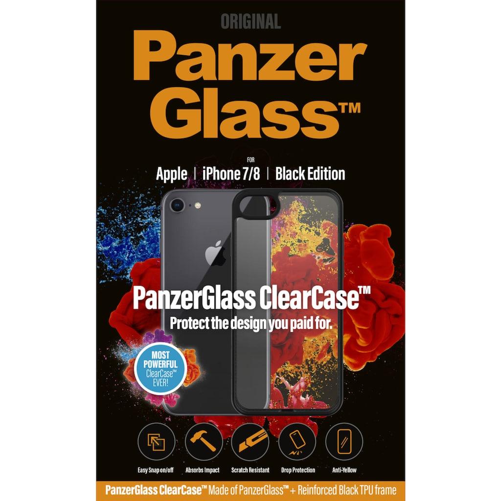 PanzerGlass Handyhülle »ClearCase mit Blackframe für iPhone 7/8«, Cover