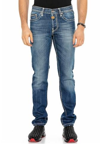 Cipo & Baxx Straight-Jeans, Markante Nähte kaufen