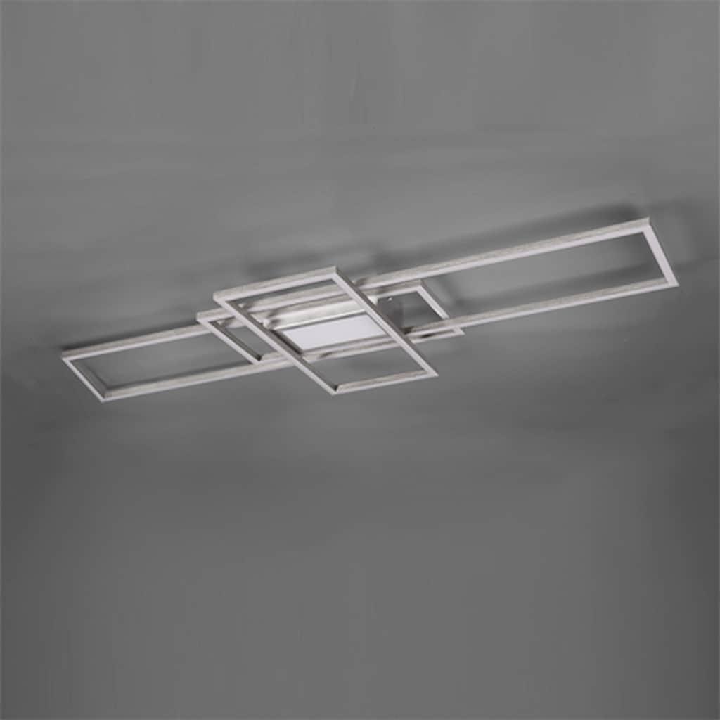 TRIO Leuchten LED Deckenleuchte »MILA«, LED-Modul, Farbwechsler, Deckenlampe inkl. Fernbedienung, dimmbar, Memory-Funktion, Farbtemperatur-Steuerung 3000 - 6500K