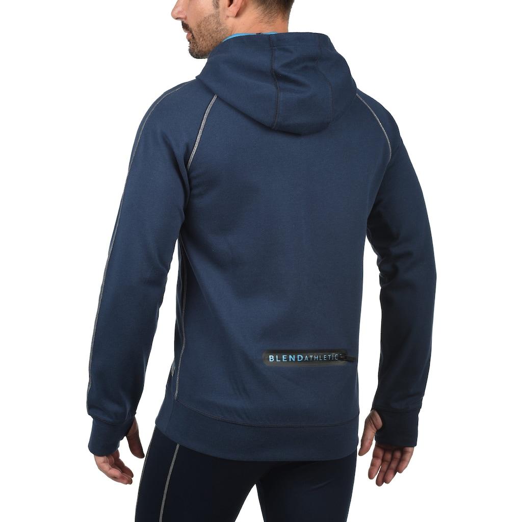 BLEND ATHLETICS Funktions-Kapuzensweatjacke »Lucao«, Sportjacke mit verlängerter Rückenpartie