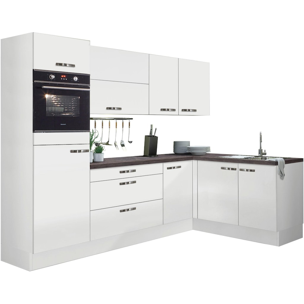 OPTIFIT Winkelküche »Cara«, ohne E-Geräte, mit Vollauszügen und Soft-Close-Funktion, Stellbreite 265 x 175 cm