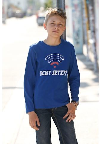 KIDSWORLD Langarmshirt »Echt jetzt« kaufen