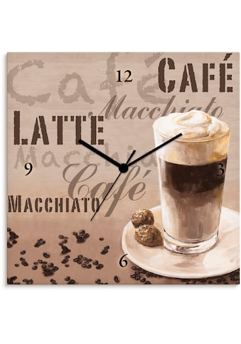 Artland Wanduhr »Kaffee - Latte Macchiato«, lautlos, ohne Tickgeräusche, nicht... kaufen