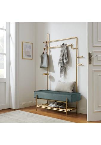 COUCH♥ Garderobenständer »Hereinspaziert«, Gestell aus Edelstahl in goldfarben oder... kaufen