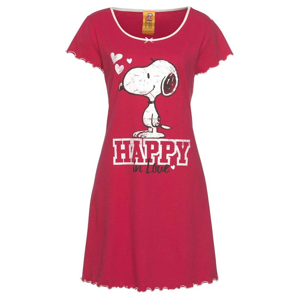 Peanuts Nachthemd, mit Snoopy Print und Kräuselsäumen