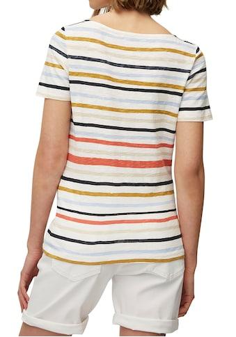 Marc O'Polo Kurzarmshirt, attraktivem U-Boot Ausschnitt kaufen