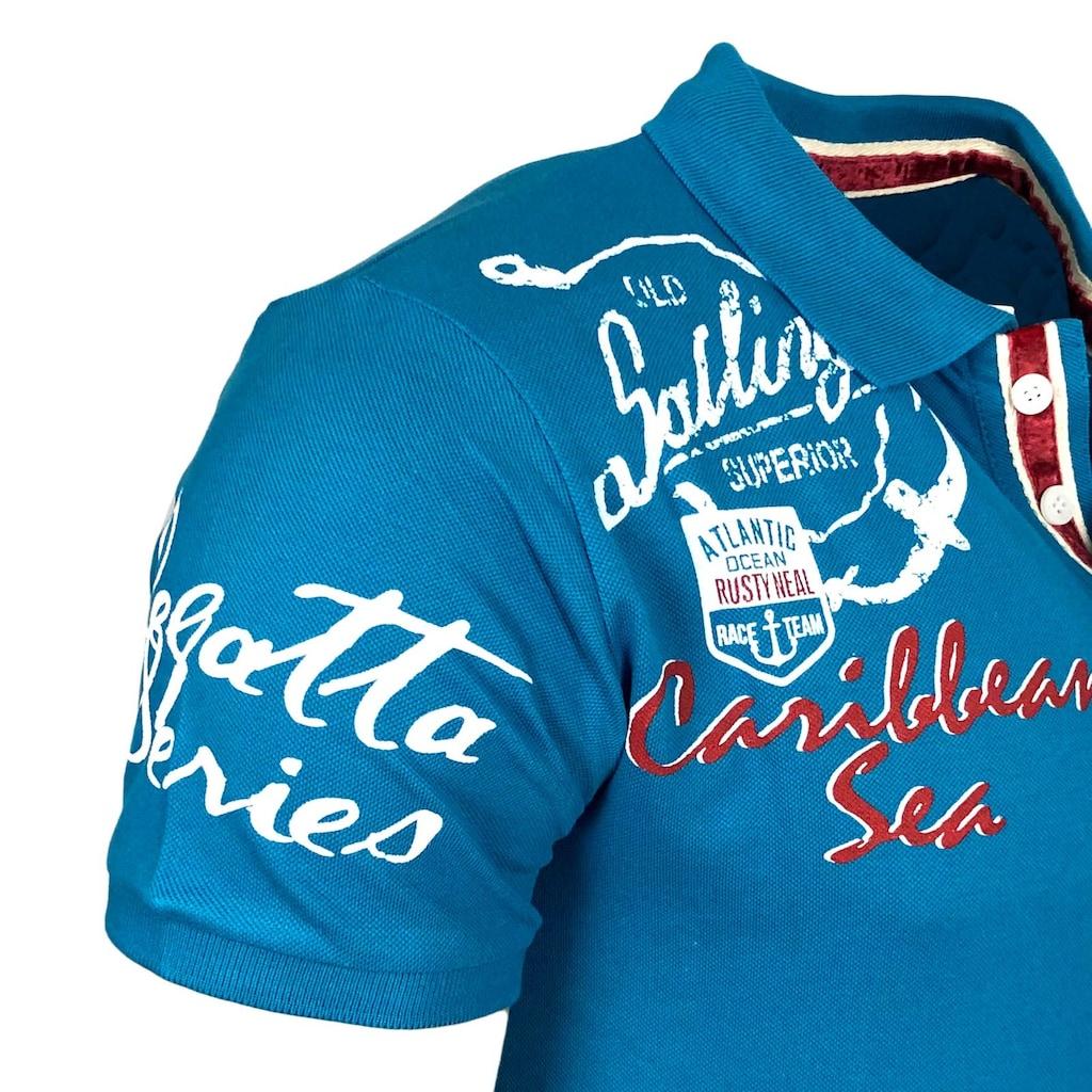 Rusty Neal Poloshirt mit Knopfleiste
