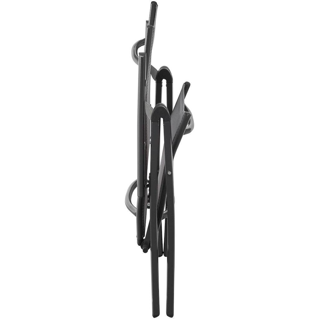 MERXX Gartenstuhl »Amalfi«, 2er Set, Alu/beschichtetes Textil, verstellbar