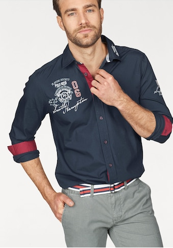 TOM TAILOR Polo Team Langarmhemd, mit Stickerei kaufen