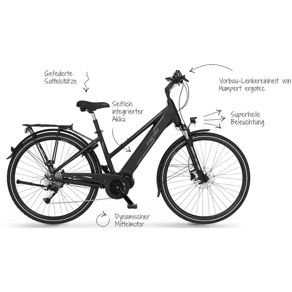 FISCHER Fahrräder E-Bike »VIATOR D 4.0i«, 9 Gang, Shimano, Acera, Mittelmotor 250 W