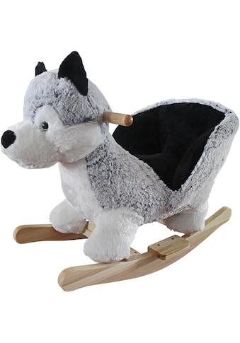 BabyGo Schaukeltier »Rocker Husky«, mit Kufen und Griffen aus Birkenholz; Made in Europe kaufen