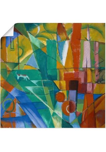 Artland Wandbild »Landschaft mit Haus Hund und Rind. 1914.«, Muster, (1 St.), in... kaufen
