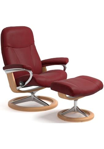 Stressless® Relaxsessel »Garda«, mit Hocker, mit Signature Base, Größe M, Gestell Eiche kaufen