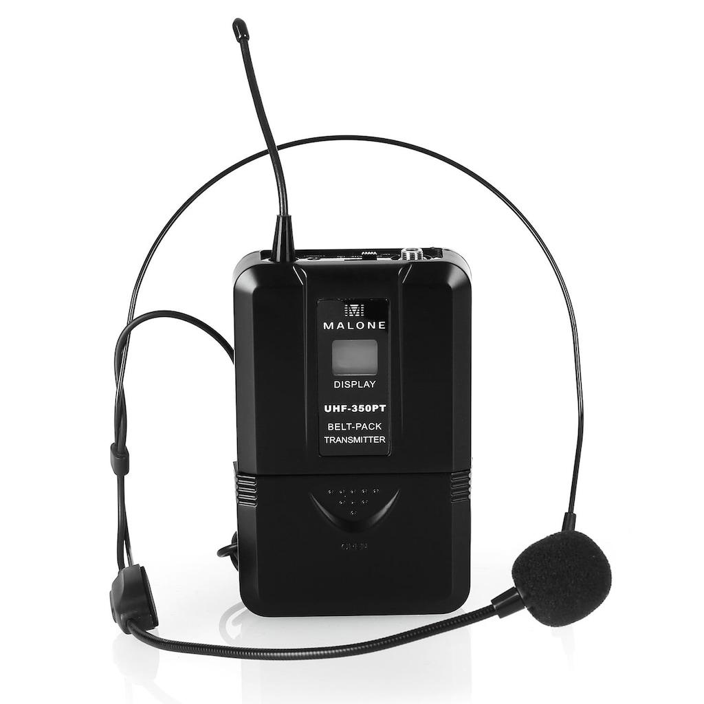Malone UHF Funkmikrofon Set 2 Kanal