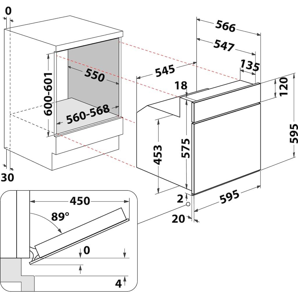 BAUKNECHT Elektro-Herd-Set »HEKO Hydro 8830S«, HVS5 TH8VS3 ES, mit Backauszug, Hydrolyse, (Set)