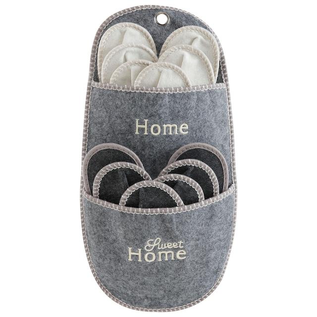 Home affaire Aufbewahrungstasche »Home Sweet Home« (Set, 7 Stück)