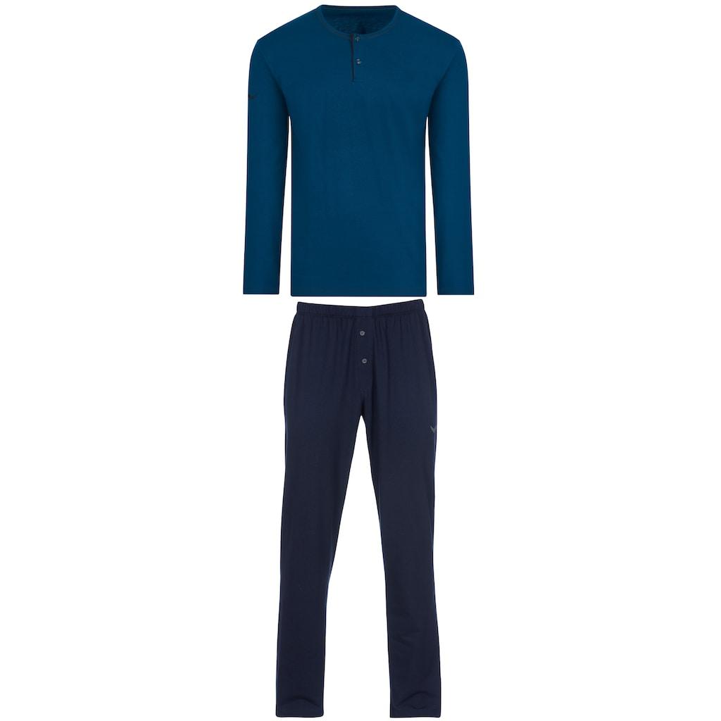 Trigema Schlafanzug, aus Bio-Baumwolle (kbA)