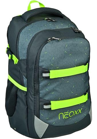 neoxx Schulrucksack »Active, Boom«, Reflektionsnaht, aus recycelten PET Flaschen kaufen