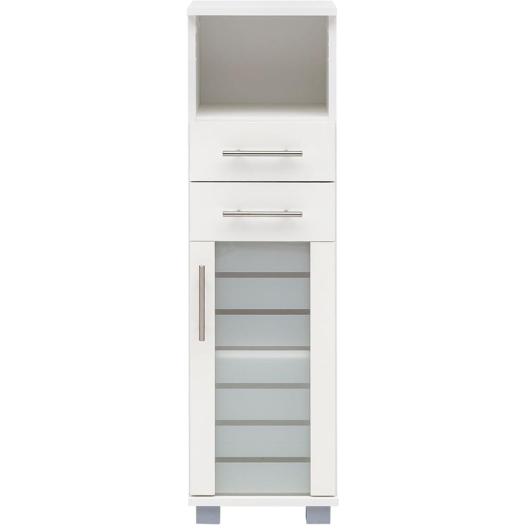 Schildmeyer Midischrank »Nikosia«, Breite 30 cm, mit Glastür, 2 Schubladen, hochwertige MDF-Fronten, Metallgriffe