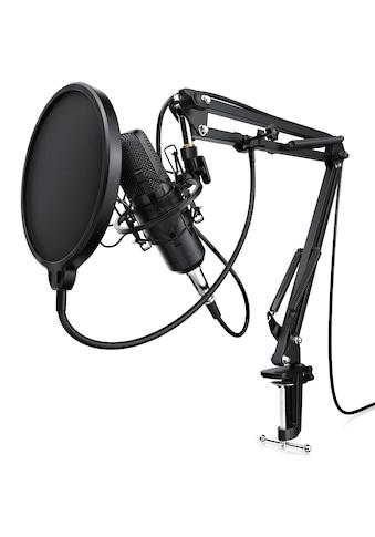 LIAM&DAAN Kondensator Mikrofon mit Arm, Spinne & Popschutz »Podcast Set / Kondensatormikrofon« kaufen
