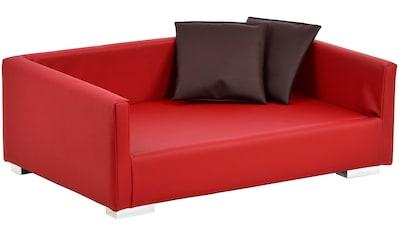 SILVIO DESIGN Hundesofa und Katzensofa »Lucky Gr. 2«, B/L/H: 100/65/32 cm, rot kaufen