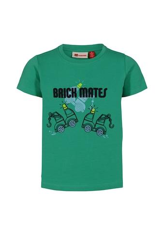 """LEGO® Wear Kurzarmshirt »LWTOMMAS 302«, """"mit Abschleppwagen und Schriftzug """"Brick Mates"""""""" kaufen"""