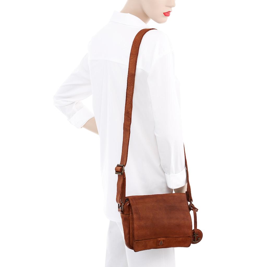 HARBOUR 2nd Umhängetasche »Laura«, aus Leder typischen Marken-Anker-Label und Schmuckanhänger